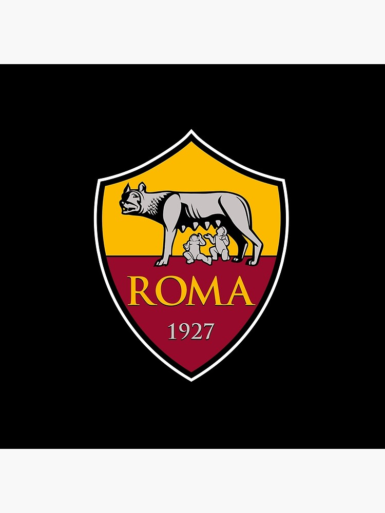 As Roma Serie A Italy Team Logo Art Board Print By Cocobaci Redbubble