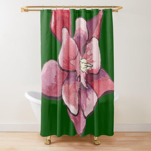 Aquilegia or columbine in aquarelle Shower Curtain