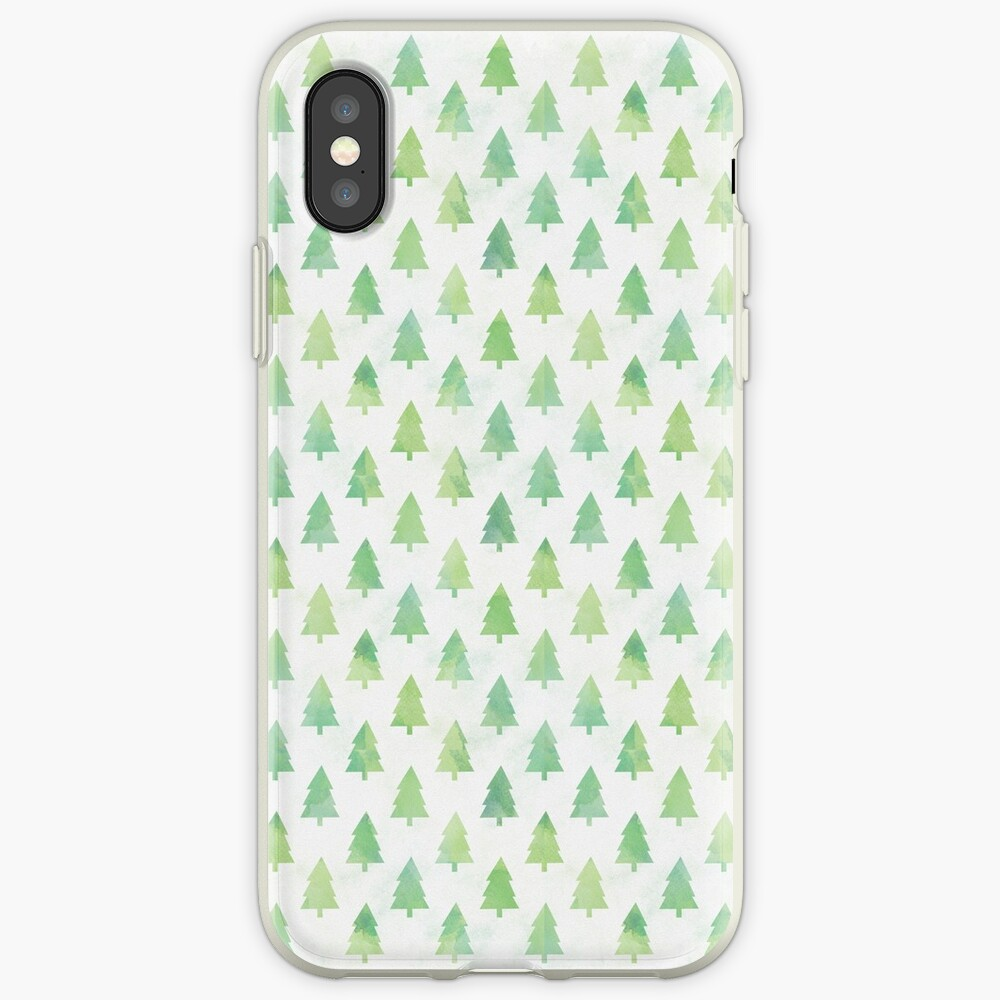 Simple Pine Tree Forest Pattern iPhone Case & Cover