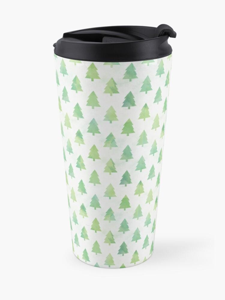 Alternate view of Simple Pine Tree Forest Pattern Travel Mug