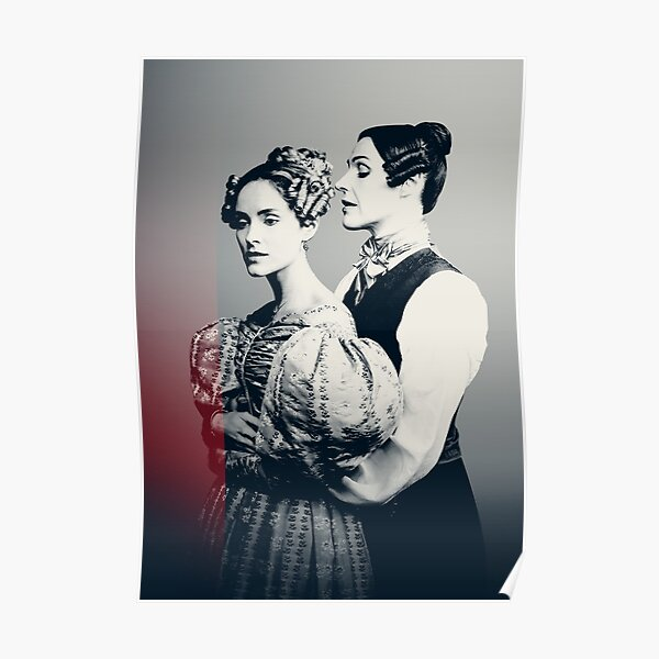 Anne Lister and Ann Walker High Key Photo  Poster