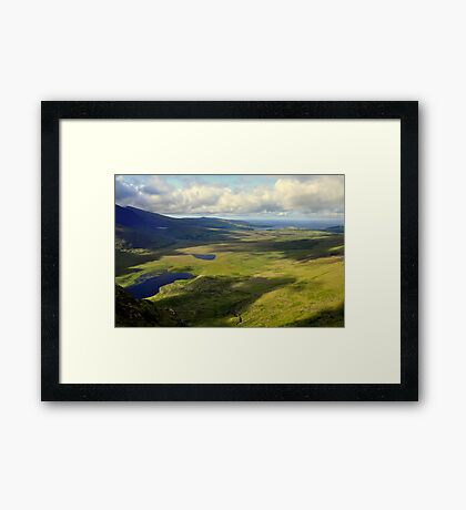 View from the Conor Pass. Framed Print