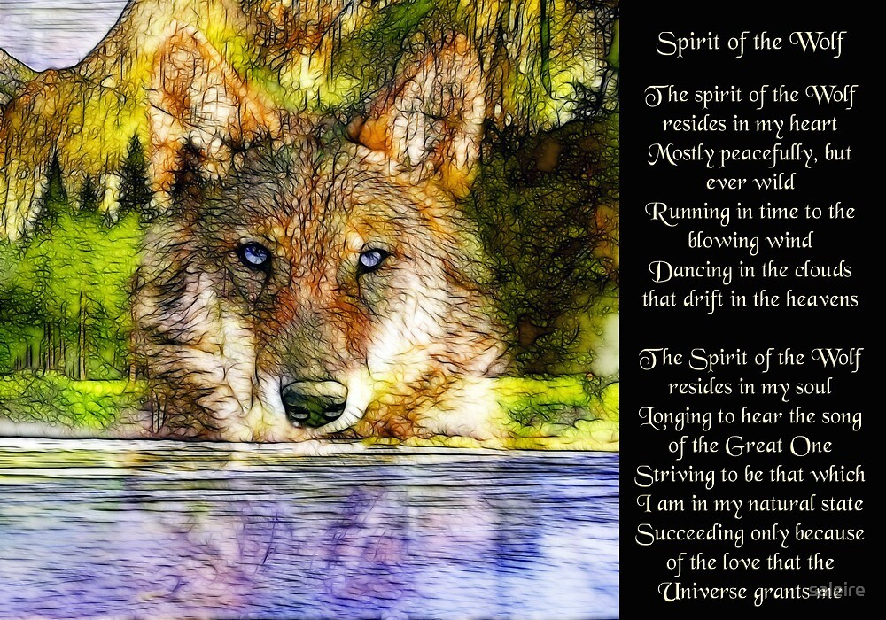 Quot Spirit Of The Wolf Quot By Saleire Redbubble