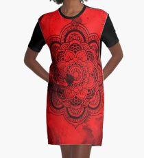 red fox Graphic T-Shirt Dress