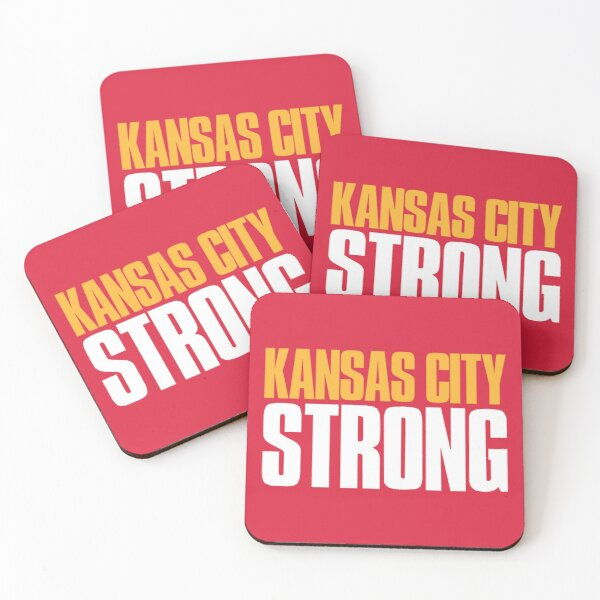 Kansas City Strong Sports Fan Coasters (Set of 4)