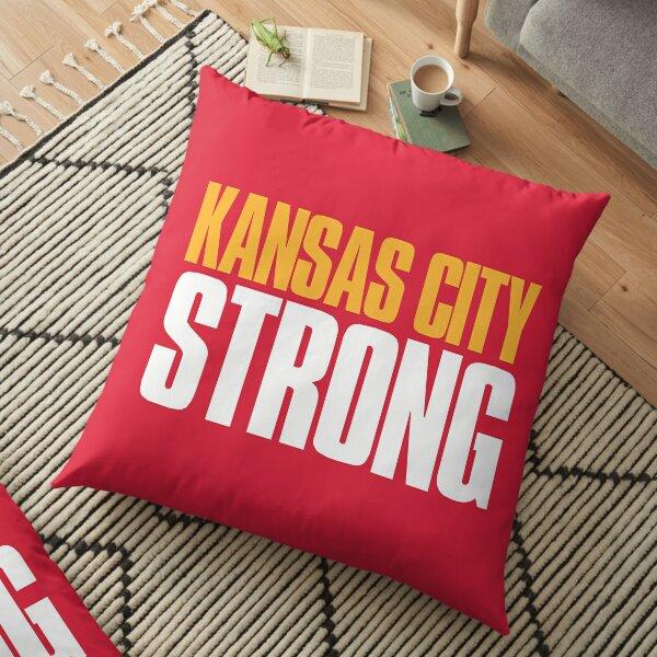 Kansas City Strong Sports Fan Floor Pillow