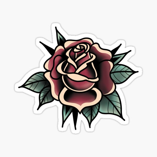 Rose traditional tattoo Sticker