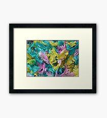 Colorful yarn pattern Framed Print