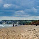 Fat Bloke on Beach, Hunmanby Gap, North Yorkshire by Thomas Tolkien
