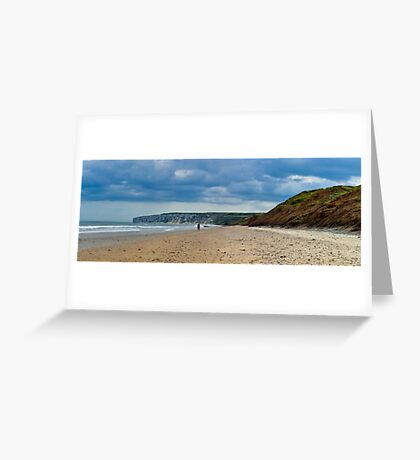 Fat Bloke on Beach, Hunmanby Gap, North Yorkshire Greeting Card