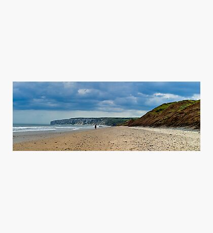 Fat Bloke on Beach, Hunmanby Gap, North Yorkshire Photographic Print