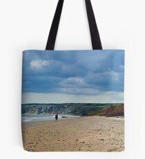 Fat Bloke on Beach, Hunmanby Gap, North Yorkshire Tote Bag