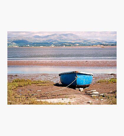Boat on South Lakeland Shore Photographic Print