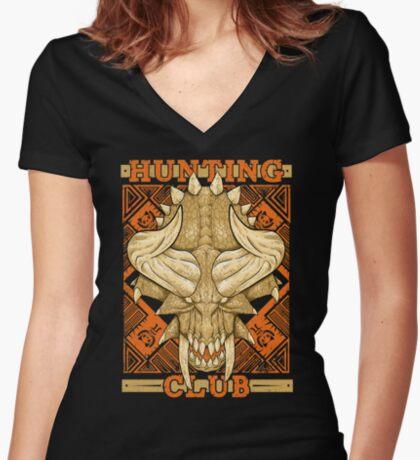 Hunting Club: Diablos Women's Fitted V-Neck T-Shirt