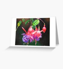 Fuchsia ballerinas Greeting Card