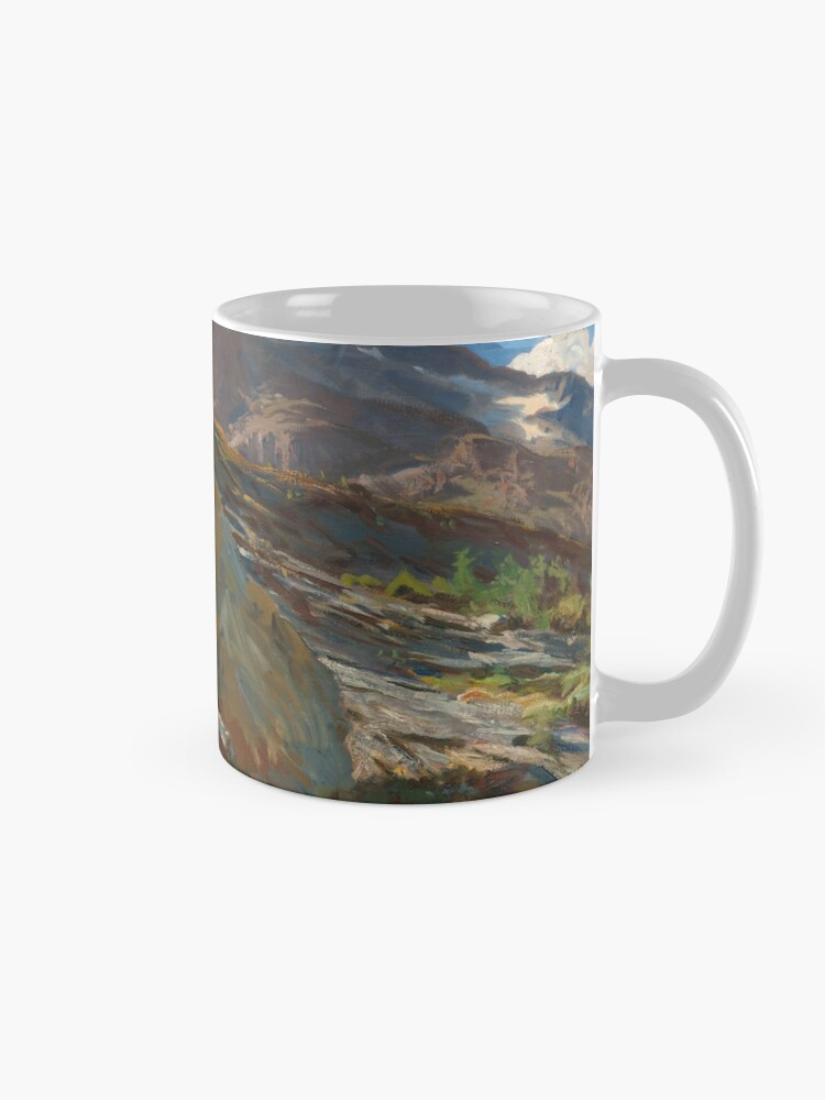 Alternate view of Simplon Pass Oil Painting by  John Singer Sargent Mug
