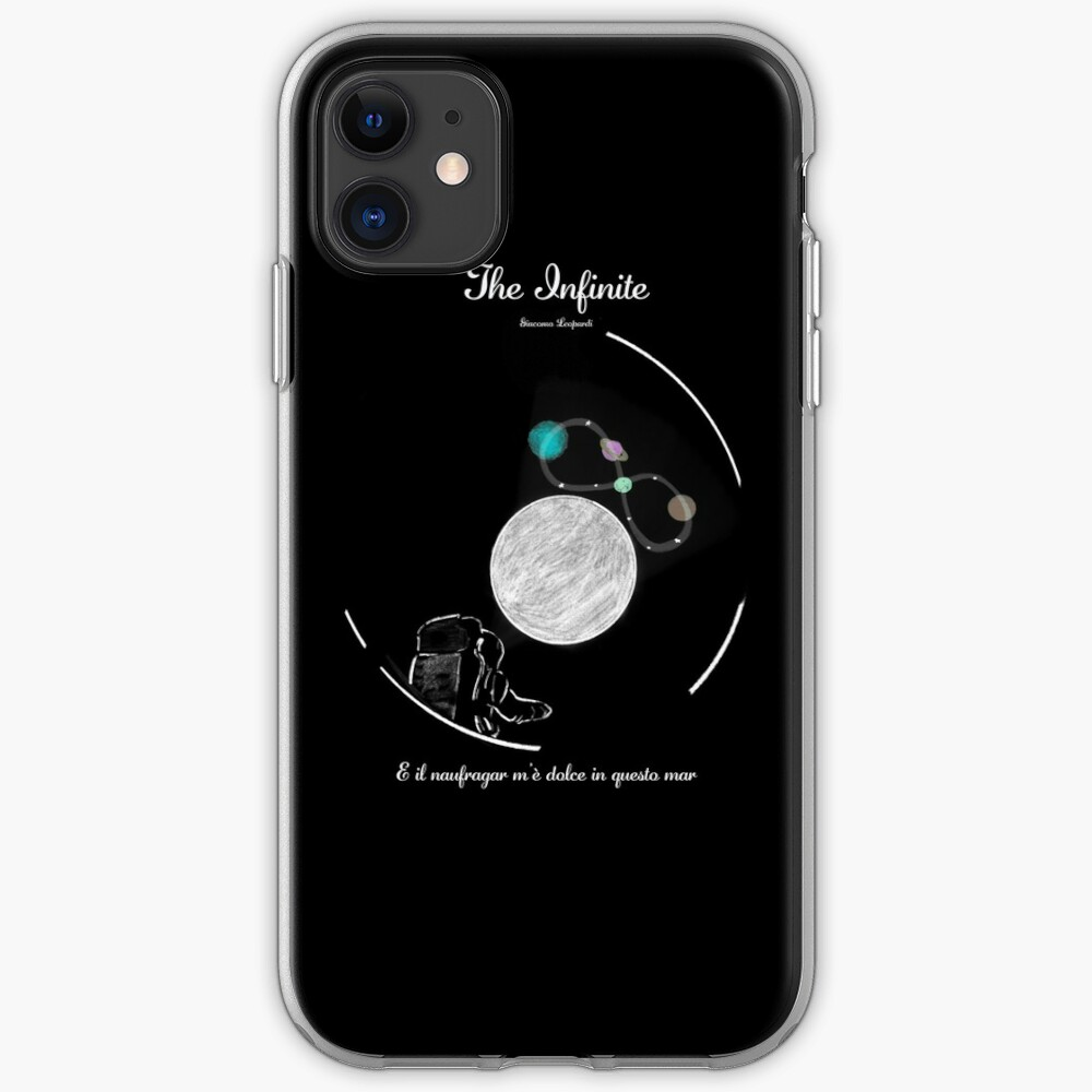 Giacomo Leopardi - The Infinite in space  iPhone Case & Cover