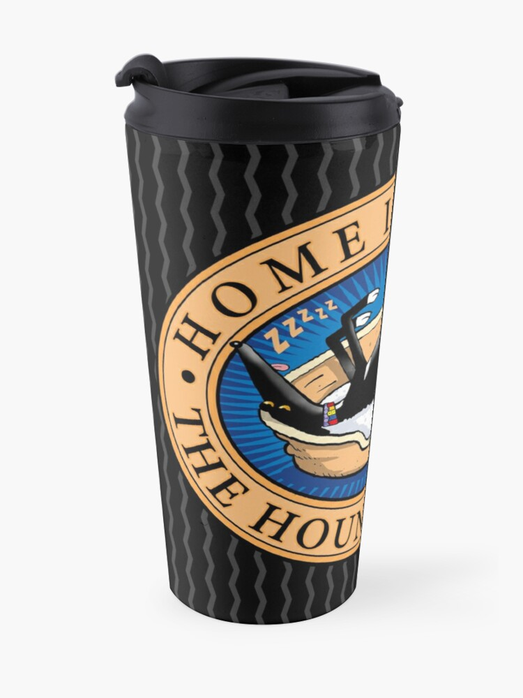 Alternate view of Home is where the Hound snoozes Travel Mug