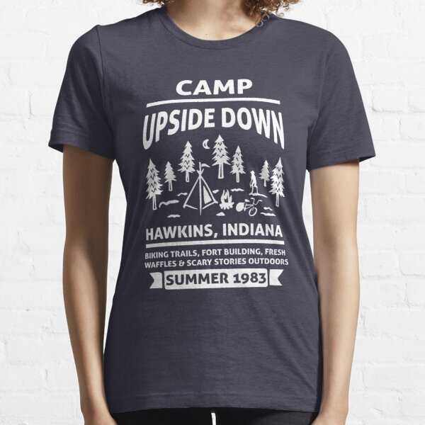 Stranger Things Camp Upside Down Indiana Essential T-Shirt