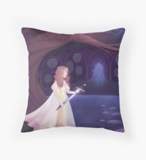 Of Swords and Stories Throw Pillow