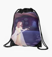 Of Swords and Stories Drawstring Bag