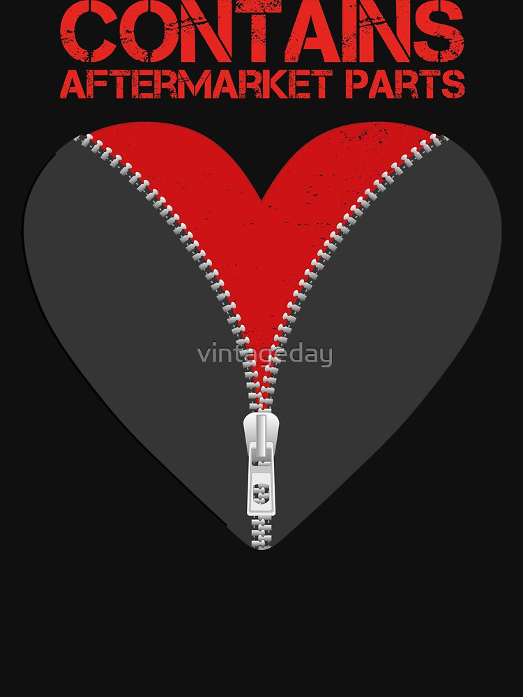 Contains Aftermarket Parts Open Heart Zipper Club Member  design by vintageday