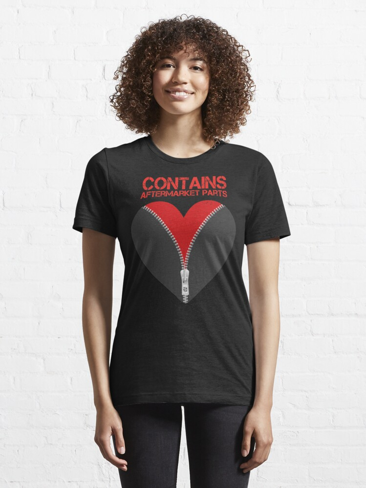 Alternate view of Contains Aftermarket Parts Open Heart Zipper Club Member  design Essential T-Shirt