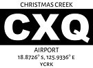 Christmas Creek Airport CXQ by AvGeekCentral