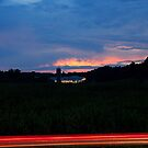 Sunset Over Maple View Farm by mojo1160