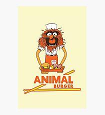 Animal Burger Photographic Print