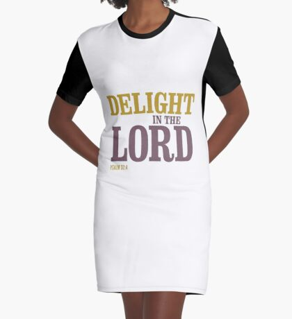Delight in the Lord - Psalm 37:4 Graphic T-Shirt Dress