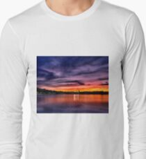Sun dusk over Boston College  T-Shirt