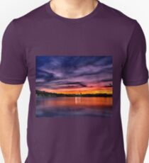 Sun dusk over Boston College  T-Shirt