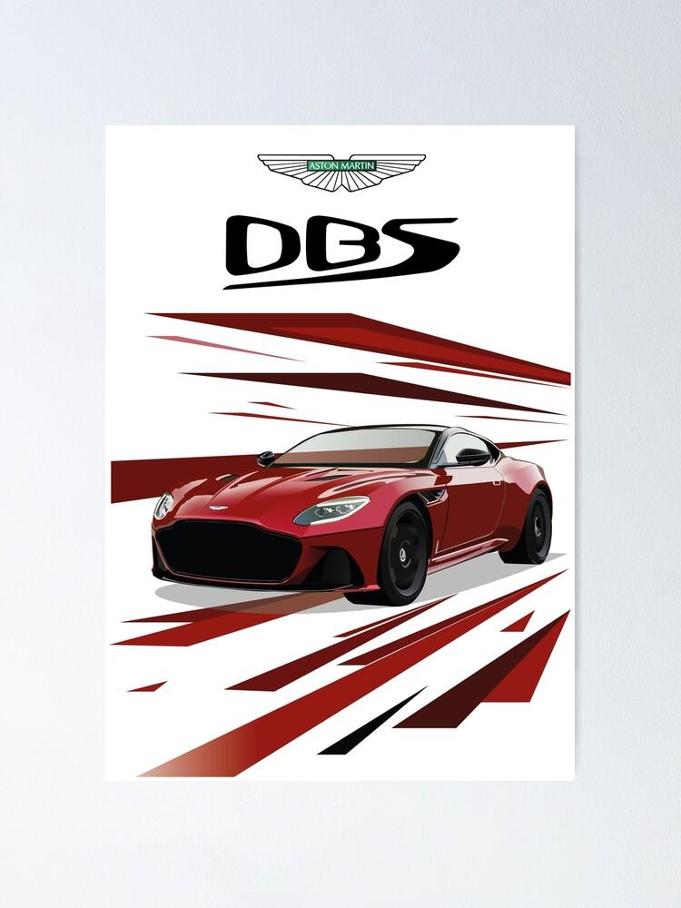 Aston Martin DBS CARS1227 Art Print Poster A4 A3 A2 A1