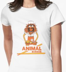 Animal Burger Women's Fitted T-Shirt