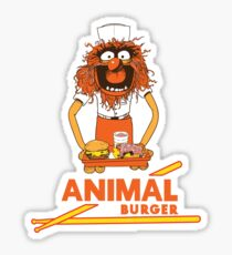 Animal Burger Sticker