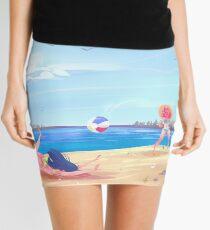 Splashes and Crashes Mini Skirt