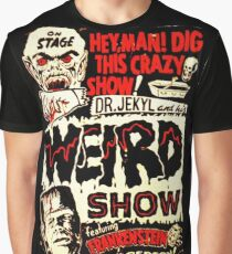 Dr. Jekyl and His Weird Show, Featuring Frankenstein Horror Vintage Graphic T-Shirt