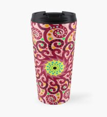 Jellyfish Maroon mandala Travel Mug