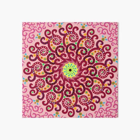 Jellyfish Maroon mandala Art Board Print