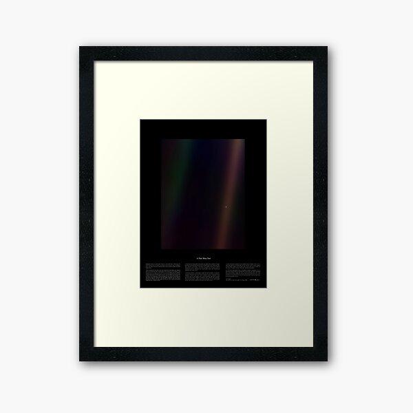 Pale Blue Dot Nasa x Carl Sagan Framed Art Print