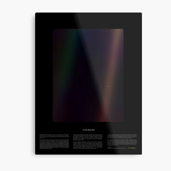 Pale Blue Dot Nasa x Carl Sagan Metal Print
