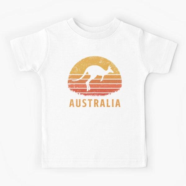 Australia Retro Kangaroo Kids T-Shirt