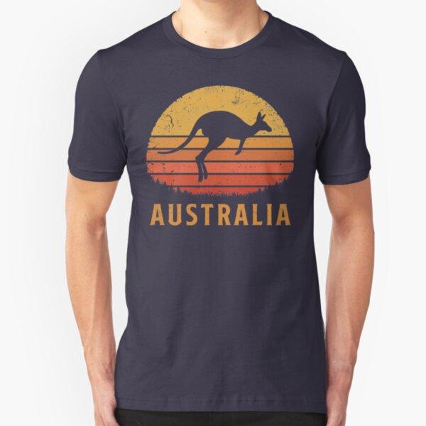 Australia Retro Kangaroo Slim Fit T-Shirt