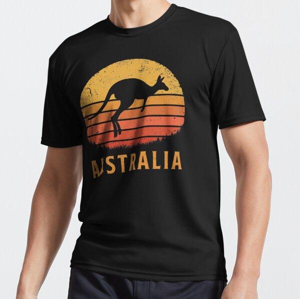 Australia Retro Kangaroo Active T-Shirt