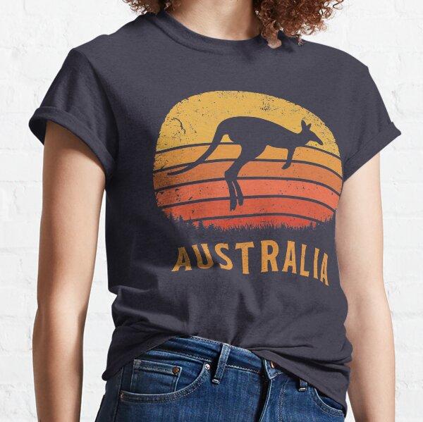Australia Retro Kangaroo Classic T-Shirt