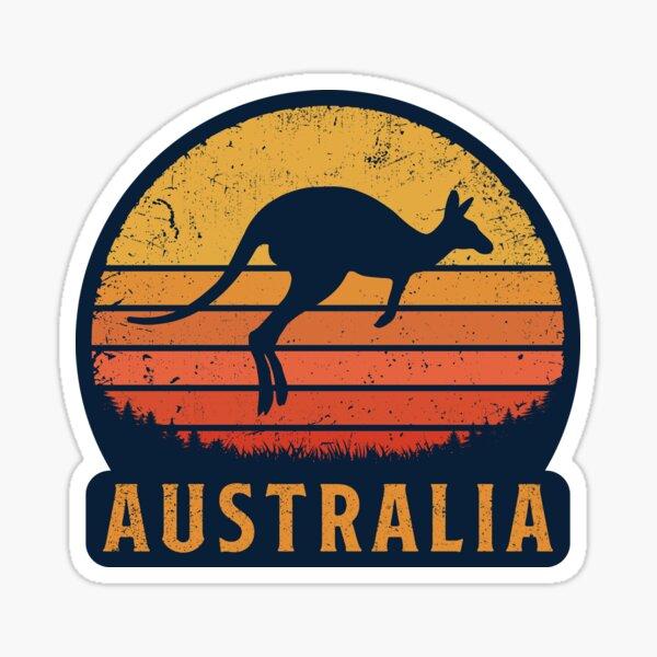 Australia Retro Kangaroo Sticker
