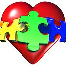 3D Heart Puzzle by bmgdesigns