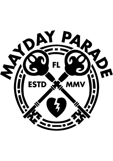 Mayday Parade Key (dunkel) von Explicit Designs