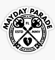 Mayday Parade Key (Dark) Sticker